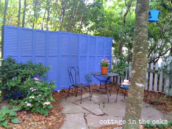Repurposed Shutter Fence