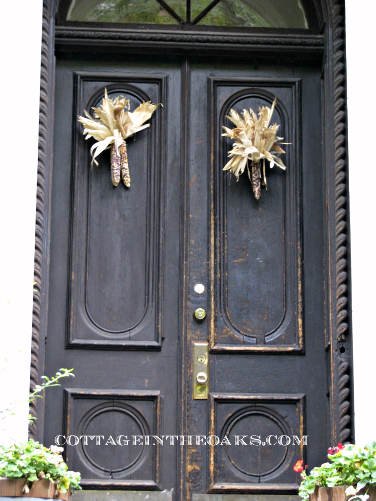 black vintage doors
