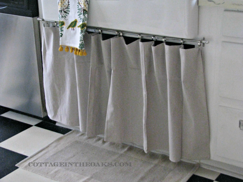 Ready Made Curtains {Using Curtains as Doors} - Cottage in the Oaks