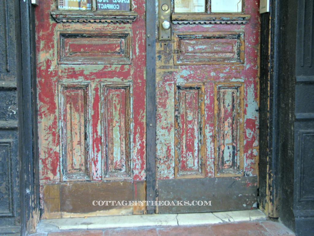 vintage wooden doors