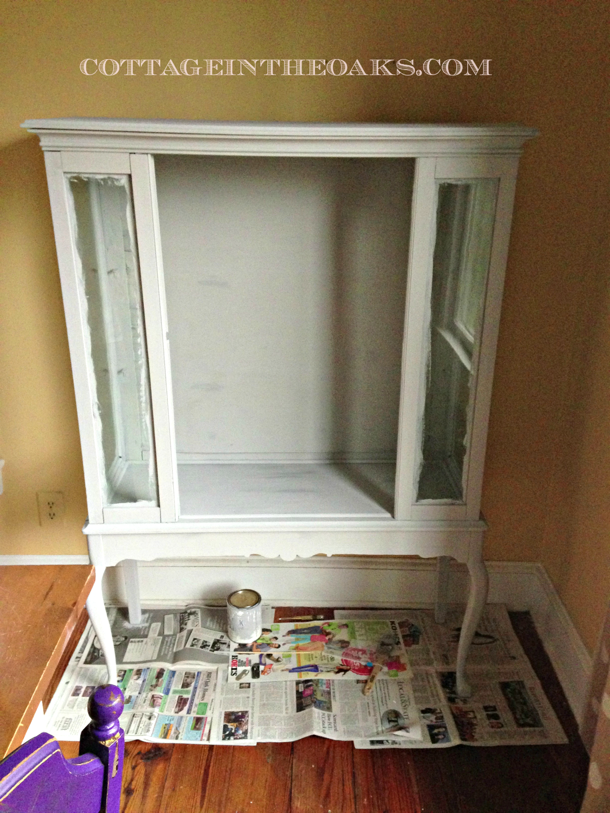 painted etagere