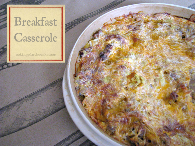 sausage cheese breakfast casserole recipe