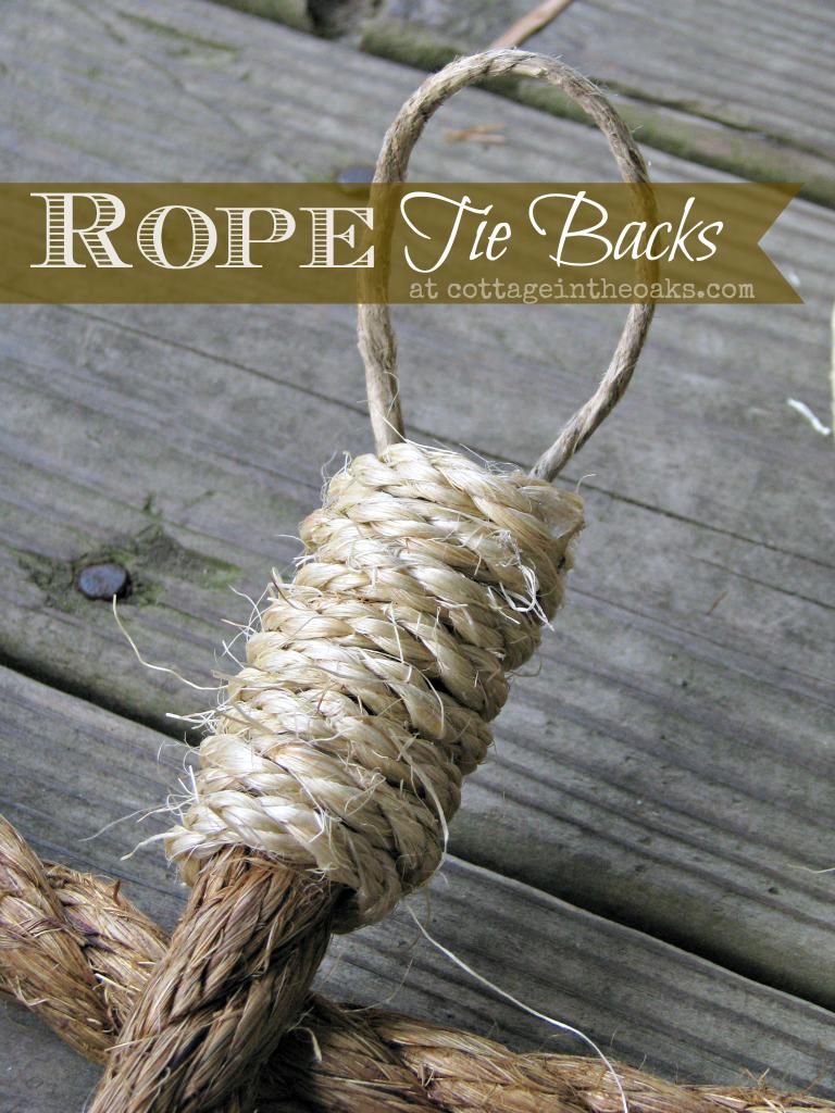 Rope Curtain Tie Backs
