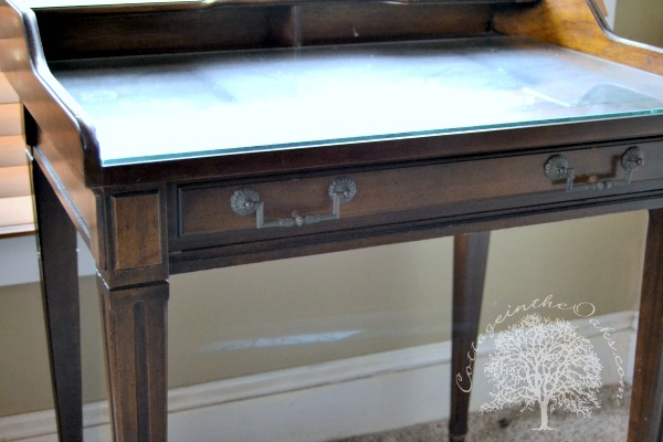 Antique Writing Desk - DIY Antique Writing Desk Redo - Cottage In The Oaks