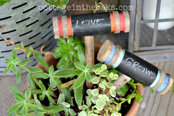 Chalkboard croquet mallets
