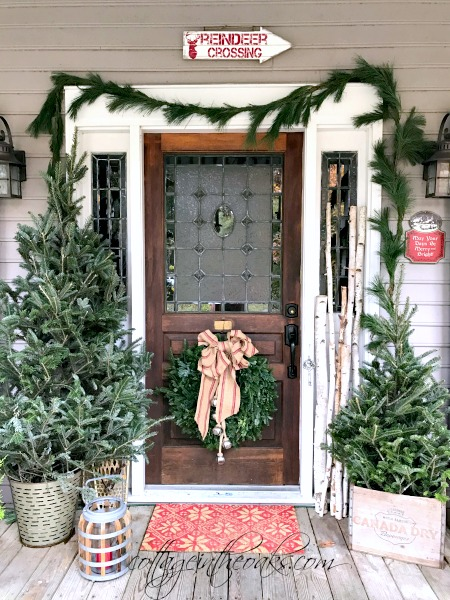 Christmas Porch cottage christmas front porch ideas - cottage in the oaks