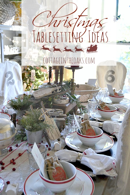 Christmas Table Settings Ideas Pictures.Christmas Table Setting Ideas Cottage In The Oaks