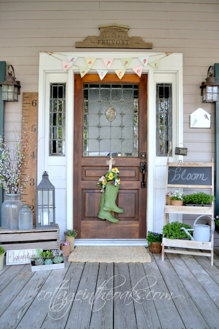 Cottage spring front porch