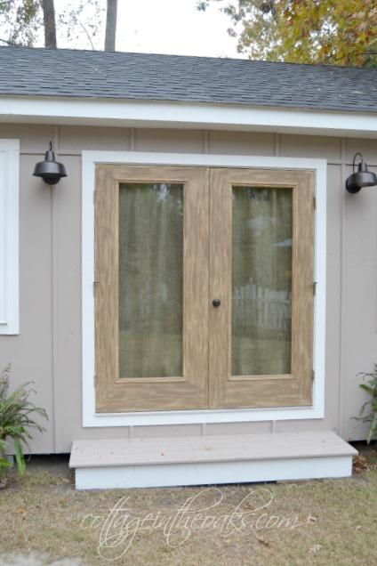Diy Faux Barn Wood Doors Cottage In The Oaks