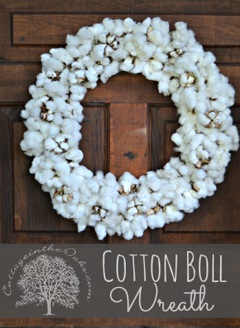 Perfect Cotton Boll Wreath DIY - Cottage in the Oaks BZ84
