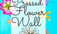 Creating a Pressed Flower Wall
