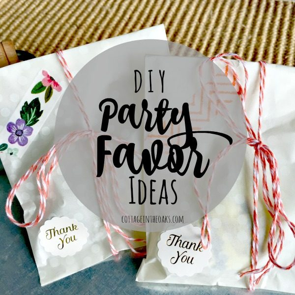 diy party favors quick easy cottage in the oaks