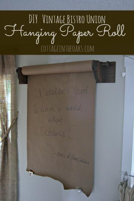 Diy Bistro Union Vintage Paper Roll Holder Cottage In The Oaks