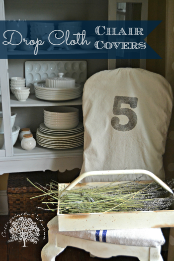Drop Cloth Chair Covers