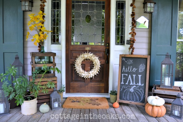 Front Porch Ready for Autumn