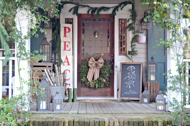Admirable Christmas Front Porch 2013 Cottage In The Oaks Largest Home Design Picture Inspirations Pitcheantrous