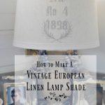 DIY Vintage European Linen Lamp Shade
