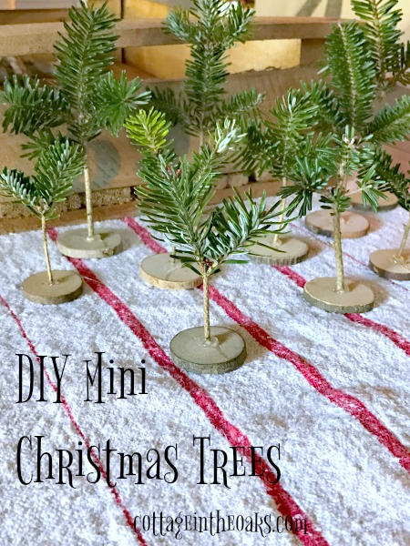 Tiny Christmas.Diy Tiny Christmas Trees For Holiday Decor Cottage In The Oaks