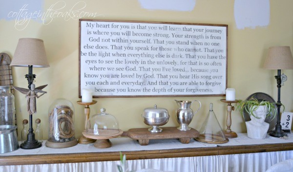 Sign in dining room