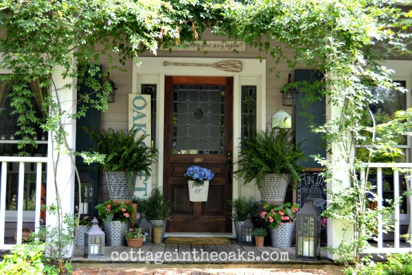 Summer front porch _ Cottage in the Oaks