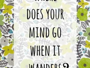Where does your mind wander