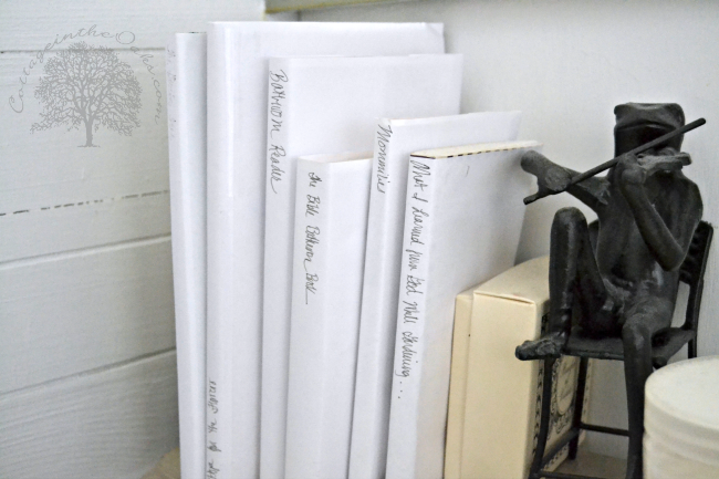 White paper wrapped books