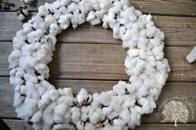 Greatest Cotton Boll Wreath DIY - Cottage in the Oaks XY83