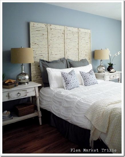 rustic chic bedroom wall color lifestyle decor inspiration pin, Headboard designs