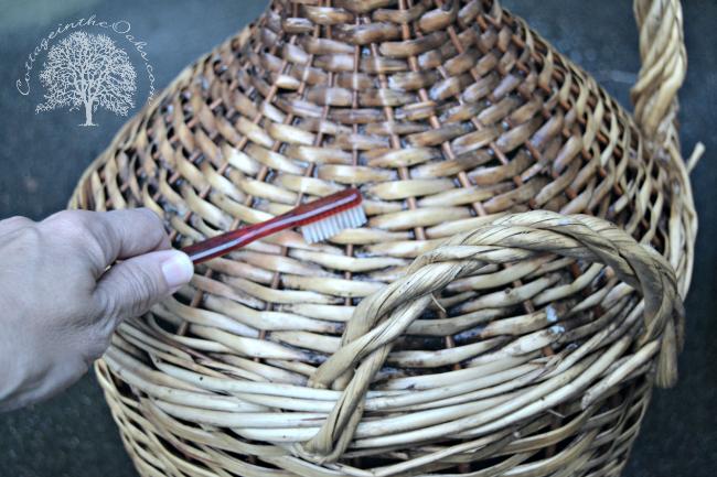 Cleaning Vintage Wicker